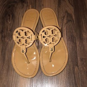Tory Burch Nude Patent Miller Sandals 8.5